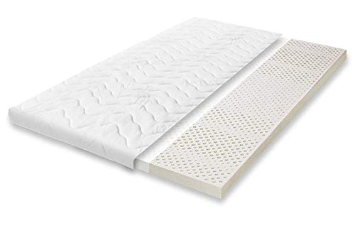 SURMATELAS Grand Confort 80x200 cm 100% LATEX ANTI-TRANSPIRATION HYPOALLERGÉNIQUE