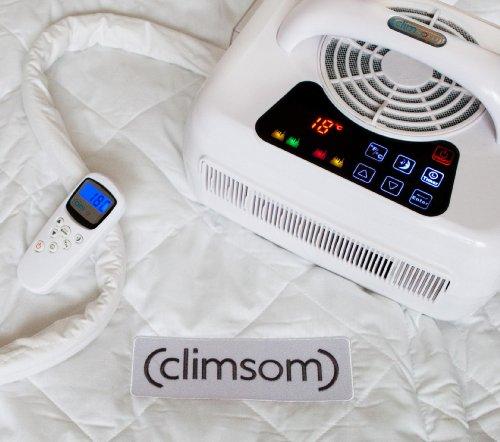 Climsom SurMatelas Climatisé Natural Filling Coton Blanc 190x140