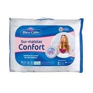 Bleu Câlin SurMatelas Confort Anti-Transpiration TopCool Blanc 140×190