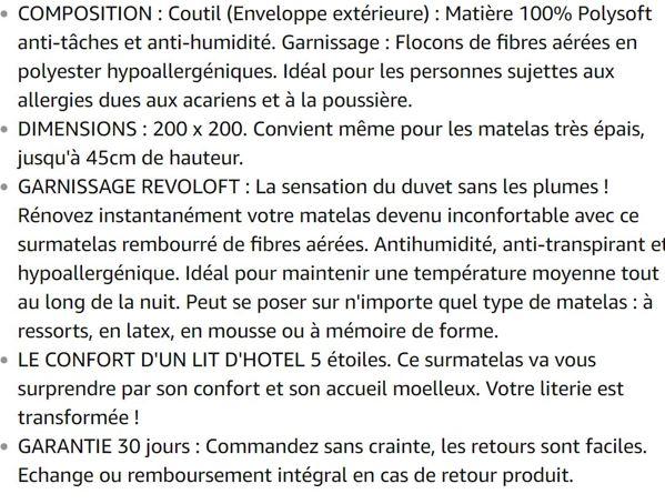 ExceptionalSheets Surmatelas Alèse Extra Moelleux Rembourré – Disponible dans Les Hôtels Marriott - 200 x 200