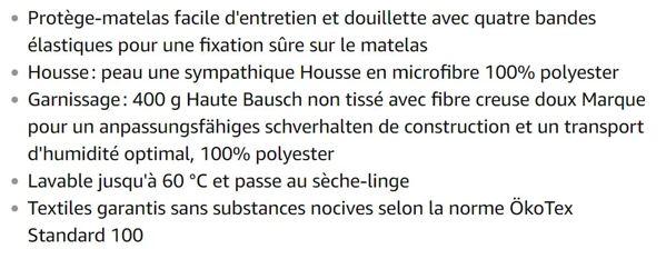Traumnacht Rêve Nuit 03881712159Comfort Protège Matelas, Microfibre, Microfibre, Weiß, 180 x 200 cm